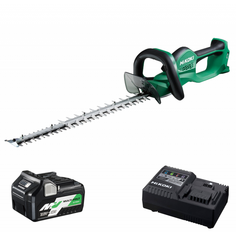 HiKOKI CH3656DA/JRZ 36V Multi-Volt Cordless Hedgetrimmer - 1 X 2.5Ah - Charger
