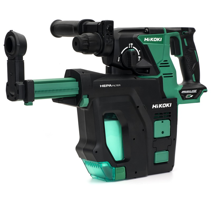 HiKOKI DH36DPB/J3Z 36V Multi-Volt Cordless SDS-Plus Hammer Drill Brushless (With Dust Extraction) - Bare Unit