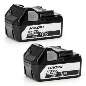 HiKOKI BSL18502 18V 5.0Ah Lithium Batteries X 2