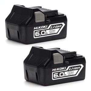 HiKOKI BSL18602 18V 6.0Ah Li-Ion Battery Set of 2 ...