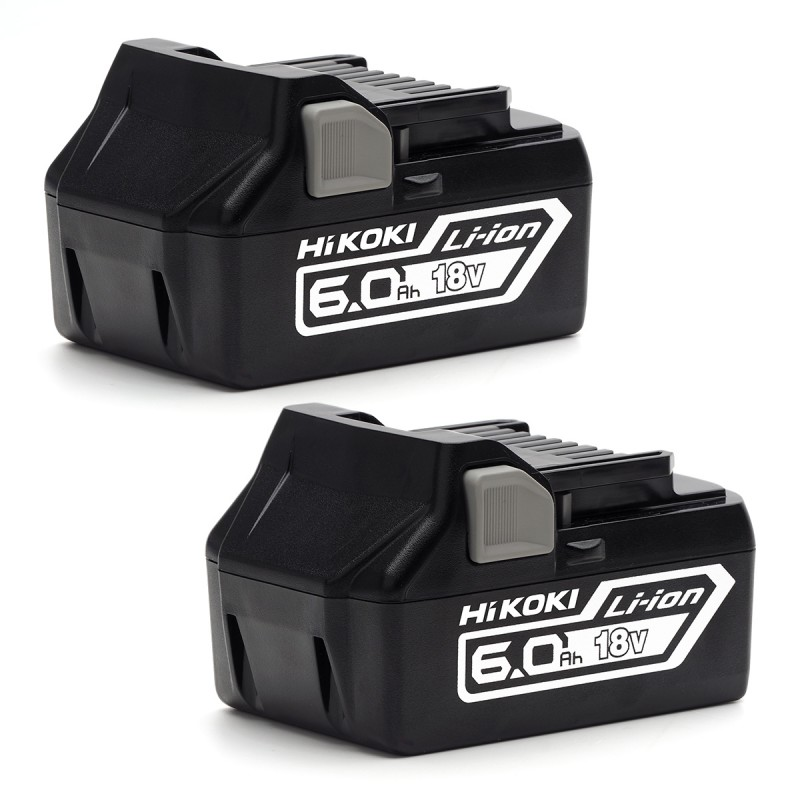 HiKOKI BSL18602 18V 6.0Ah Li-Ion Battery Set of 2 Batteries