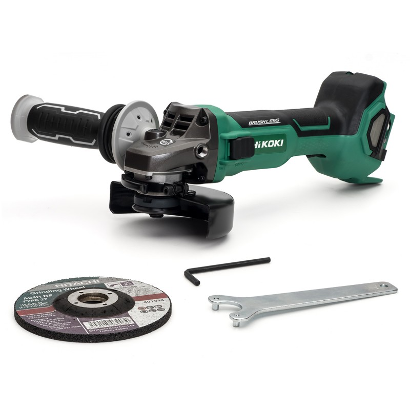 HiKOKI Multi-Volt Angle Grinder 115mm - Bare Unit - G3612DB/J3Z - Paddle Switch - 36V