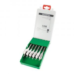 HiKOKI 781791 6 Piece Flat Wood Drill Bit Cassette...
