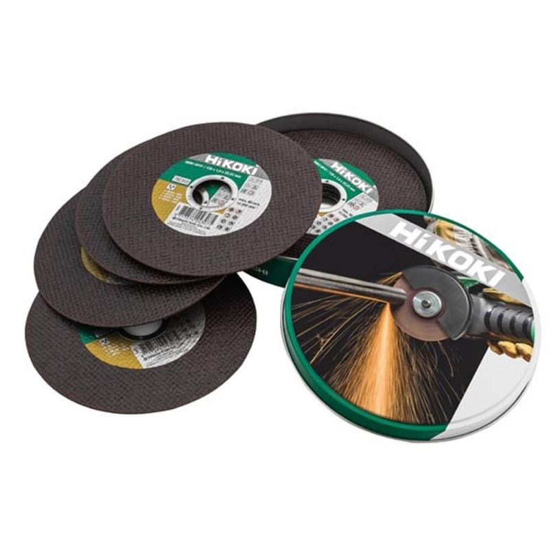HiKOKI 782304 INOX and Metal Cutting Discs - 125 X 1mm Pack of 10