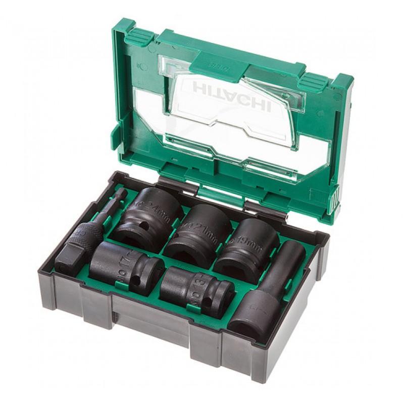 "HiKOKI 40030025 1/2"" Impact Socket Set Bit Box 7 Piece"