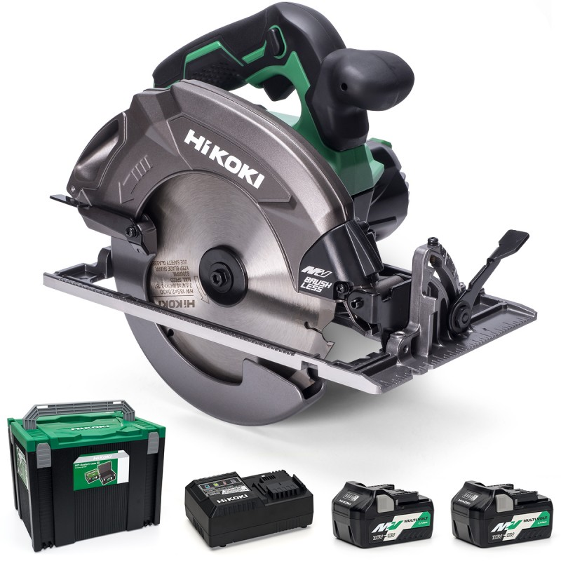 HiKOKI 185mm Multi Volt Circular Saw 36V with Brushless Motor - C3607DA/JRZ