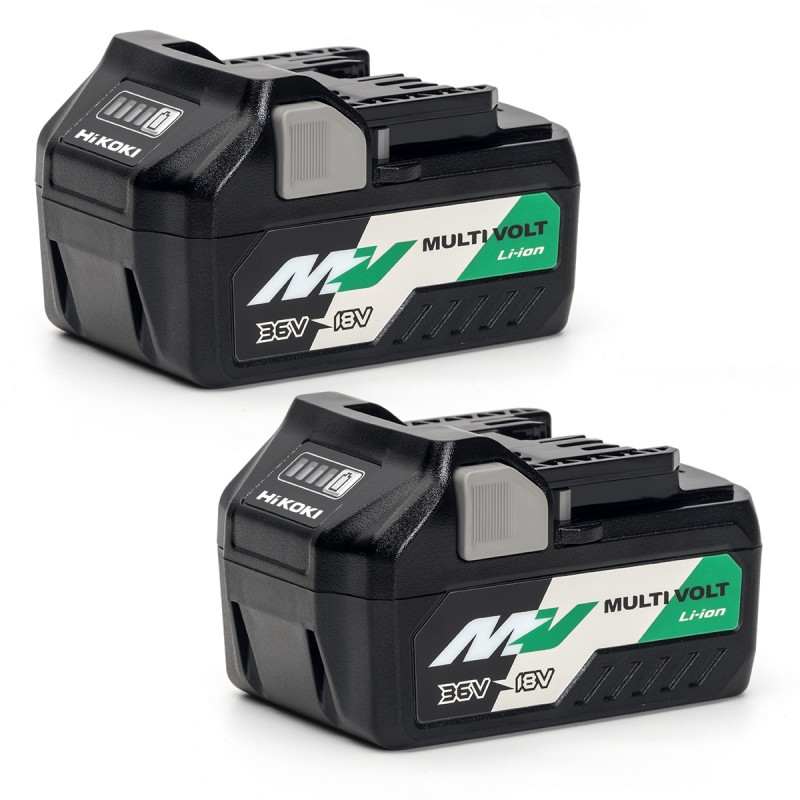 HiKOKI BSL36A18X2 18-36V MultiVolt Battery 5.0Ah Pack of 2