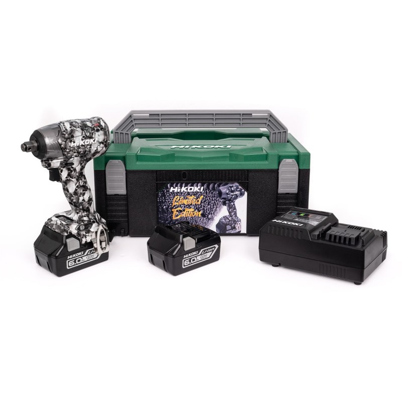 HiKOKI WR18DBDL2SKULL Limited Edition Skull 18V Brushless Cordless Impact Wrench Kit - 2 x 6.0Ah