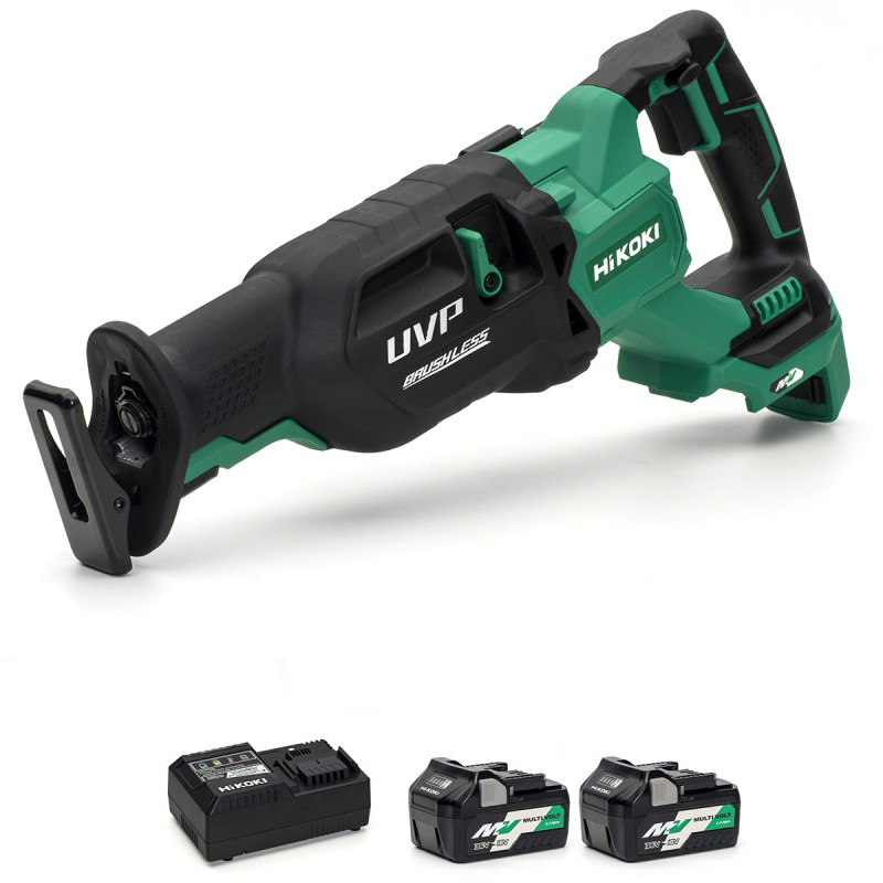 HiKOKI CR36DA/JAZ 36V Multi-Volt Cordless Reciprocating Saw Brushless - 2 X 2.5Ah - Charger