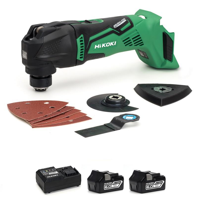 HiKOKI CV18DBL/JX Multi-Tool 18V Cordless Brushless - 2 X 6Ah - Charger