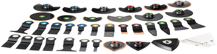 CV18DBL - 37 different accessories for flush cutting, plunge cutting, scraping, sanding and grinding