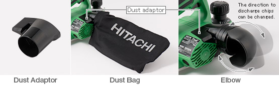 P18DSL - Dust bag and elbow